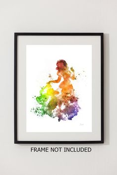 Snow White ART PRINT 10 x 8 illustration Disney by SubjectArt