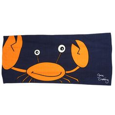 crab beach towel by gone crabbing limited | notonthehighstreet.com
