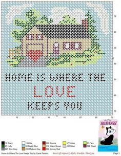 HOME IS WHERE THE LOVE KEEPS YOU by CARRIE PERKINS -- WALL HANGING