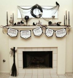 Witchy Glam Halloween Mantel » Flamingo Toes