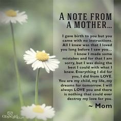 A note from mother