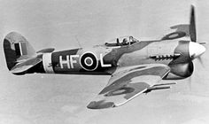 Picture of the Hawker Typhoon Ground Attack Aircraft / Fighter-Bomber Air Force Aircraft, Ww2 Aircraft, Fighter Aircraft, Military Aircraft, Fighter Jets, Hawker Tempest, Hawker Typhoon, Diesel, The Spitfires