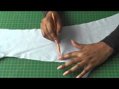Finding Grain lines on Scrap Fabric. Out NOW at FashionSewingBlogTV - http://www.youtube.com/watch?v=7r0zYwPBW_g