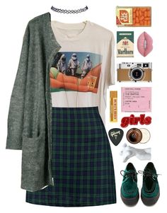 """the mona lisa"" by xxharrietxx ❤ liked on Polyvore featuring Prada, Boohoo, Julie Fagerholt Heartmade, Wet Seal, T.U.K., Gibson, Hermès, Lime Crime and The Body Shop"