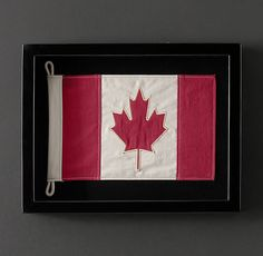 Framed Flag of Canada-lounge in medium Restoration Hardware Canada, Flag Display Case, Outdoor Wicker Furniture, Garden Furniture, Happy Canada Day, Wall Decor, Wall Art, Black Wood, Cool Things To Make