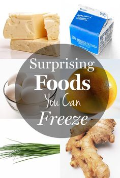 8 surprising foods you can freeze. You'll be amazed by how much you can save by freezing leftovers!