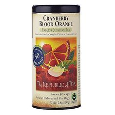 The Republic Of Tea Cranberry Blood Orange Black Tea 50 Tea Bags Gourmet Blend >>> Want to know more, click on the image.