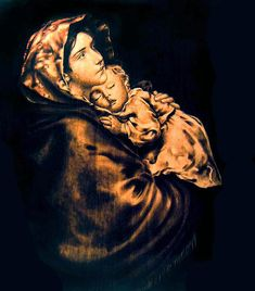 most famous pyrography of all time | Madonnina Pyrography