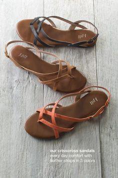 9efe80045cbada crisscross sandals - Look so comfy and light. Cute Sandals