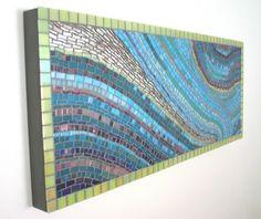 Mosaic Work PARA HACERLO PARA UNA PARED GRANDE EN UN JARDIIN Y SE HACEN VARIOS Y SE VAN UNIENDO