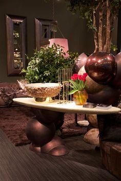 Maison & Objet Paris on Behance - #Cravt #Original #Interior #Design #Masion #Et #Object #Paris #Booth #Fair #Januari #2015 #Silverleaf #Champagne #Glases #Shell #Chrystal #Rock #Cooler