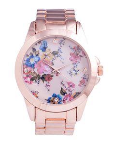 Belle Fleur Rose Watch by JewelMint.com, $39.99