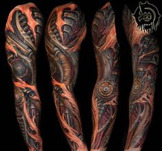 Biomechanical Tattoo Sleeve Julian Siebert Biomechanical in proportions 1758 X 1637 Biomech Tattoo Sleeve - The tattoos are fairly big and can be Tattoos 3d, Tattoos Mandala, Tattoos Arm Mann, Girl Arm Tattoos, Girls With Sleeve Tattoos, Arm Tattoos For Women, Head Tattoos, Thigh Tattoos, Small Tattoos