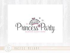 Los niños Logo Diseño partido Logo Princesa Tiara de Logo Logo