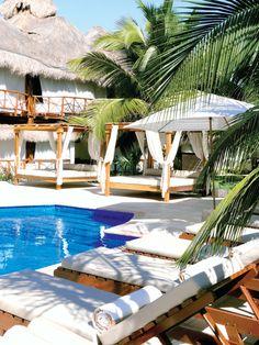 El Dorado Maroma by Karisma  Bar 24 and pool area.
