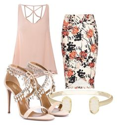 """""""Untitled #1"""" by asteezy85 on Polyvore featuring Glamorous, Kendra Scott and Aquazzura"""