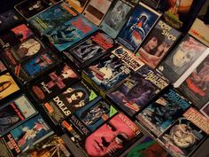 A nice batch of VHS on display.