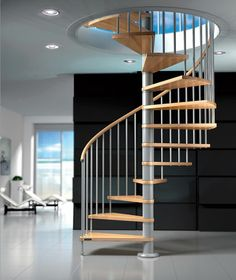 Spiral staircase (metal frame and wooden steps) FOX Mobirolo