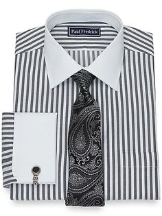 Shop our collection of men's clearance dress shirts on sale today. Paul Fredrick clothes are guaranteed to fit. Catalog Online, New Catalogue, Man Up, Mens Clothing Styles, Dress Shirts, Men Dress, Ties, Fashion Outfits, Business