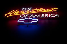 The Heartbeat of America Full Size Sedan, Truck Decals, Chevrolet Impala, Neon Lighting, Chevy Trucks, Bow Ties, In A Heartbeat, Muscle Cars, Luxury Cars