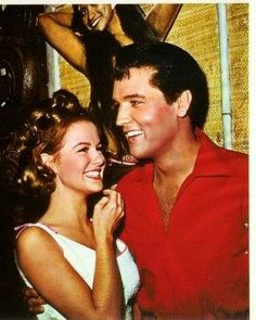 """(Girl Happy)  Elvis once cited Shelley Fabares as his favorite actress of those he had worked with. They must have hit it off pretty well during the filming of """"Girl Happy,"""" since she was eventually asked to take the lead in two more Elvis films. Alanna Nash in her book """"Baby Let's Place House,"""" says that Shelley found Elvis to be """"a private person who had no privacy."""""""