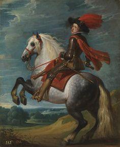 Felipe IV a caballo, Gaspar de Crayer. Óleo sobre tabla, 28 x 22 cm, 1628 – 1632.