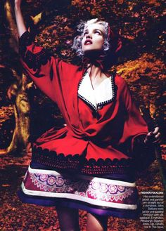 Natalia Vodianova as Little Red Riding Hood - Into the Woods -  Natalia Vodianova by Mert & Marcus for Vogue US September 2009