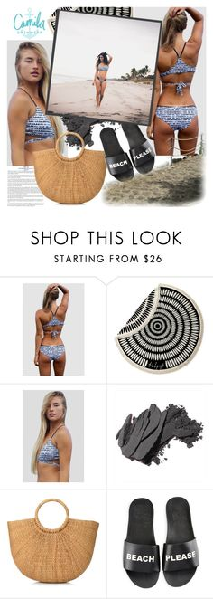 """Camila Swimwear"" by gaby-mil ❤ liked on Polyvore featuring The Beach People, Bobbi Brown Cosmetics, Schutz, Summer, black, swimwear, handmade and camilaswimwear"