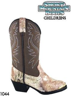 Smoky Mountain Boots Western Snake Print Cody 1044 Children Tan Smoky Mountain Boots. $44.00