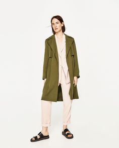 ZARA - SALE - FLOWING TRENCH COAT WITH GINGHAM CHECK LINING