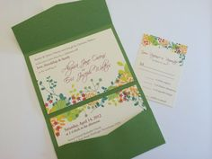 Spring or Summer Event Invitation Suite by Evolutionare on Etsy