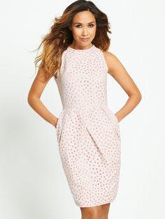 Myleene Klass Spot Burn Out Tulip Skirt Dress | littlewoodsireland.ie