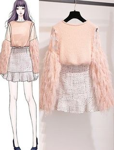 DIY Projects - Welcome my homepage Kpop Fashion Outfits, Korean Outfits, Cute Fashion, Look Fashion, Teen Fashion, Fashion Drawing Dresses, Fashion Illustration Dresses, Fashion Dresses, Elegantes Outfit