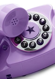 style hotline phone in violet; put it on  your desk as a special phone for special clients