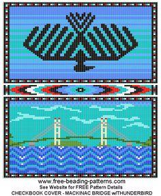 Ojibwe Thinderbird  - BEADED Check Book Cover