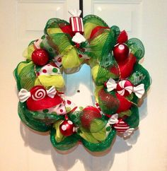 Christmas Posh Deco Mesh by PoshDecorumWreaths on Etsy, $70.00