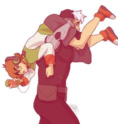 Just got into Voltron: Legendary Defender and it's AMAZING, Pidge is totally my favorite character (als a request from @l-sula-l and @azzling to see Sass child and Space dad shenanigans, Pidge here is getting taken to a REAL bed this time instead of...