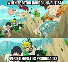 Read Nanatsu no taizai + 2 from the story Memes by saz_wppm with reads. Anime Meme, Otaku Anime, Manga Anime, Anime Seven Deadly Sins, 7 Deadly Sins, Memes Humor, Funny Memes, Cool Animes, Meliodas And Elizabeth