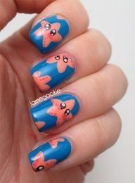 Starfish Nails..idk I just think these are kinda funny/cute