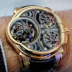 The impressive Harry Winston Histoire de Tourbillon 5 on wrist. by gilles_ancion Timex Watches, Men's Watches, Skeleton Watches, Harry Winston, Luxury Watches For Men, Beautiful Watches, Watch Brands, Cool Watches, Unique Watches