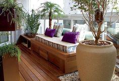 piso madeira na varanda