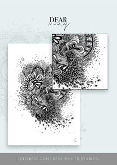 Mandala Wall Art No. 6 ⋆ Mandala Print ⋆ Black and White Print ⋆ Wall Decor ⋆ Boho Chic ⋆ Minimalist Design ⋆ Digital Download ⋆ Printable ⋆ Dear May Printables Mandala Printable, Wall Decor, Wall Art, As You Like, Minimalist Design, Wall Prints, Boho Decor, Decorating Your Home, Boho Chic