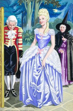 When I was little, this was one of the 3 most beautiful dresses I'd ever seen. For some reason Cinderella goes to the ball several time in this Ladybird version.