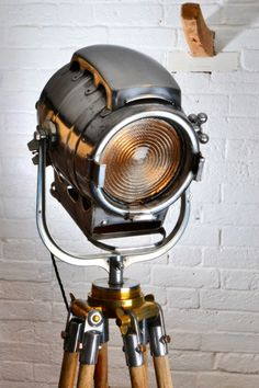 Bardwell Antique Stage light  Vintage Industrial Theater Spot lamp Loft Feature