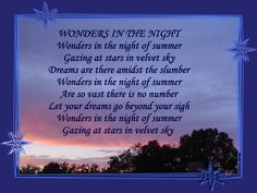 Wonders In The Night © Copyright Ethel GG Kent