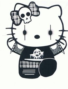 Hello Kitty Skull Coloring Pages Hello Kitty Coloring