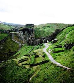 # Tintagel, Cornwall England home of King Arthur. This spectacular place is really worth a visit. Beautiful nature and breathtaking views. Oh The Places You'll Go, Places To Travel, Places To Visit, England Ireland, England Uk, Voyage Europe, Cornwall England, To Infinity And Beyond, British Isles