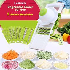 Multifunctional Mandoline Slicer with 4 Interchangeable Stainless Steel Blades -Vegetable Cutter Peeler Slicer Grater