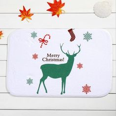 Find More Mat Information about Joyous Green Christmas Deer Door Mat Home Decoration Non Slip Carpet For Living Room Bathroom Kids New Room Decor Rugs,High Quality Mat from Products Sea on Aliexpress.com