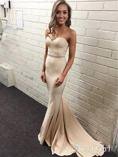 507cee8a50 Nude color mermaid prom dress. Nude Prom Dresses
